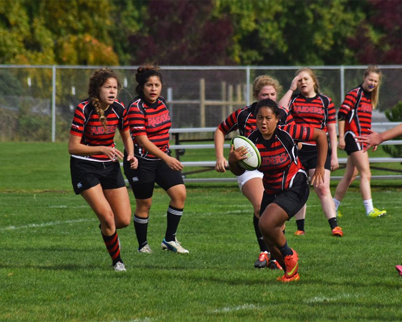 women's rugby sport club at SOU