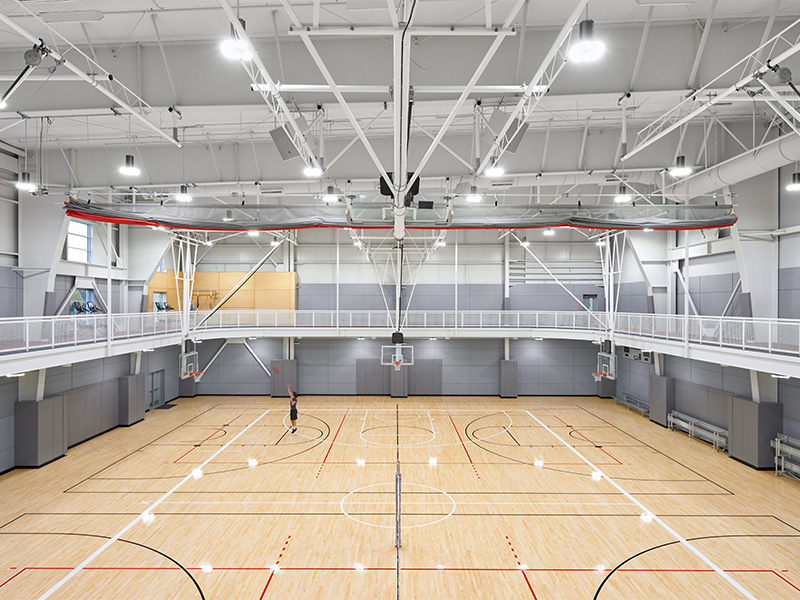 Gymnasium at the SOU Student Recreation Center